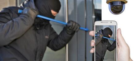 Austin security camera installation burglar breaking